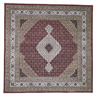 53c4f977943 One-of-a-Kind Southa Tabriz Mahi Hand-Knotted Square 8 9