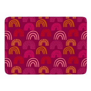 It's all Rainbow by Jane Smith Memory Foam Bath Mat