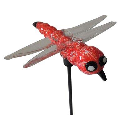 Woodruff Dragonfly Glass Blown Garden Stake