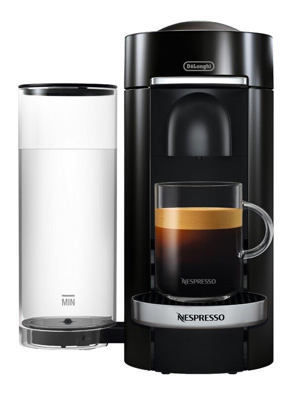 delonghi nespresso vertuo plus deluxe coffee and espresso single serve machine with aeroccino. Black Bedroom Furniture Sets. Home Design Ideas
