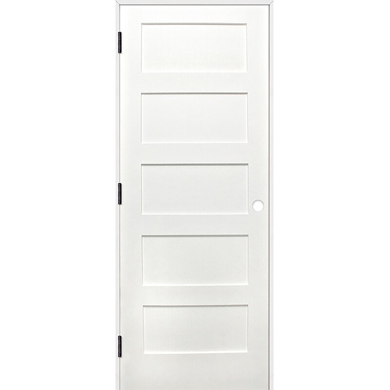 Creativeentryways Shaker 5 Panel Solid Panelled Wood Prehung