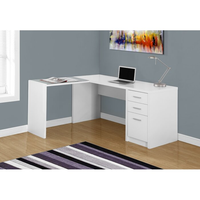 the in shelving specialties desk with adjustable p canada home depot white en monarch corner