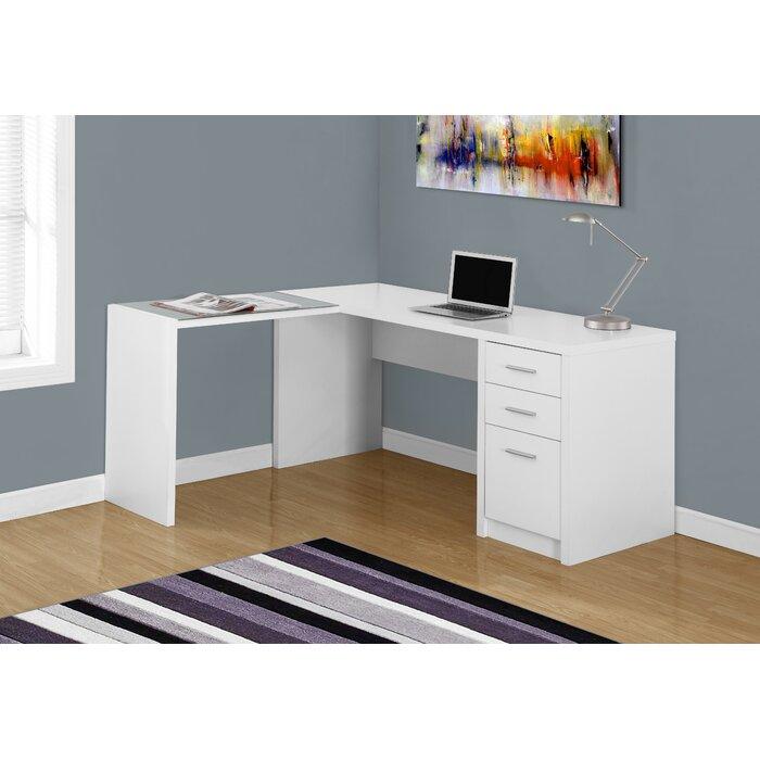 desk fabulous monarch bookcase computer shape ladder inc l specialties corner