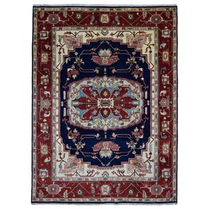 Forrester Serapi Hand-Woven Wool Red/Blue/Beige Area Rug