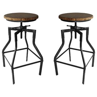 Hogle Adjustable Height Bar Stool - set of 2 (Set of 2)