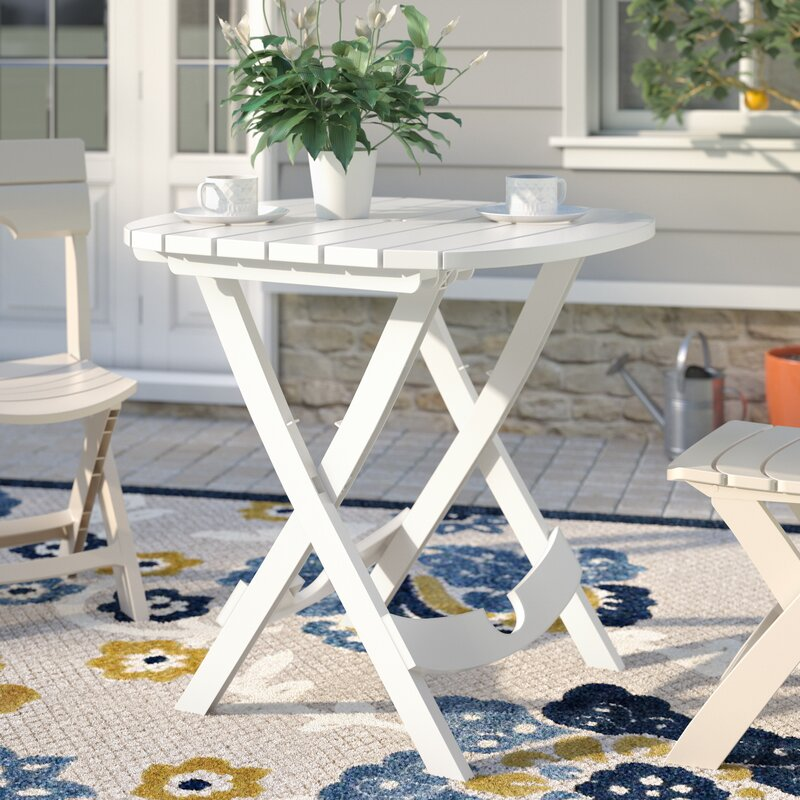 Andover mills quebec folding resin bistro table reviews for Outdoor furniture quebec
