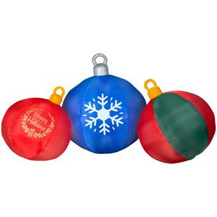 ornaments inflatable by the holiday aisle - Outdoor Christmas Inflatables