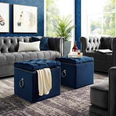 Blue Amp Green Storage Ottomans You Ll Love In 2019 Wayfair
