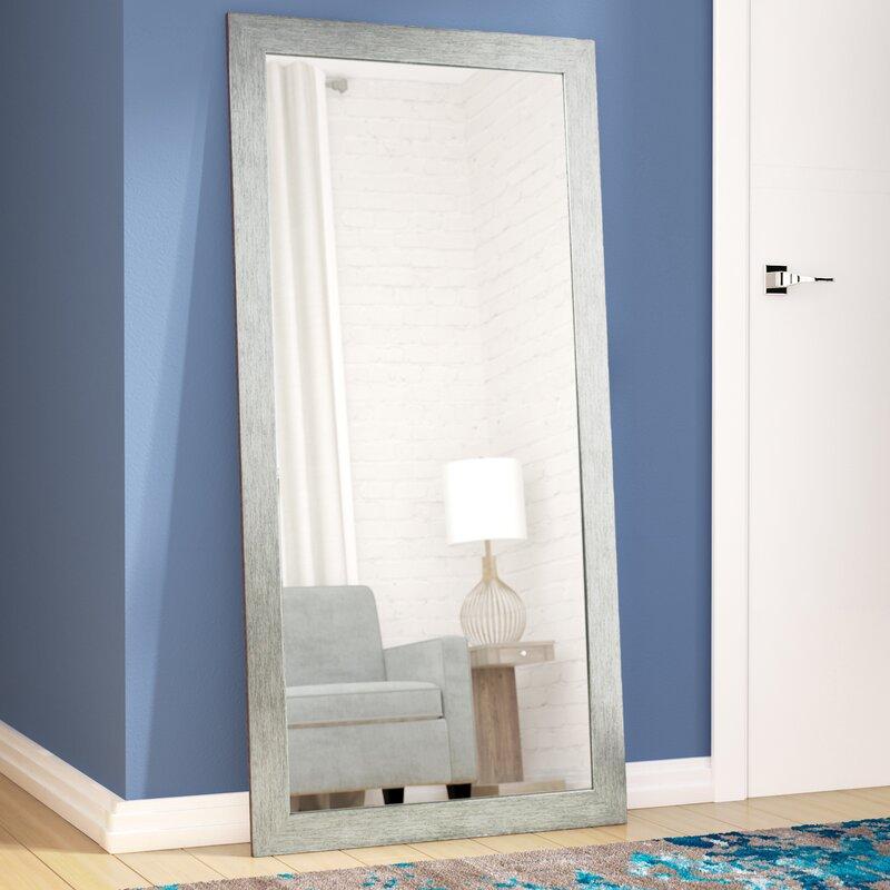 Brayden Studio Silver Wood Full Length Floor Mirror & Reviews   Wayfair