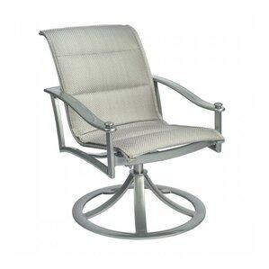 Nob Hill Sling Rocking Swivel Patio Dining Chair