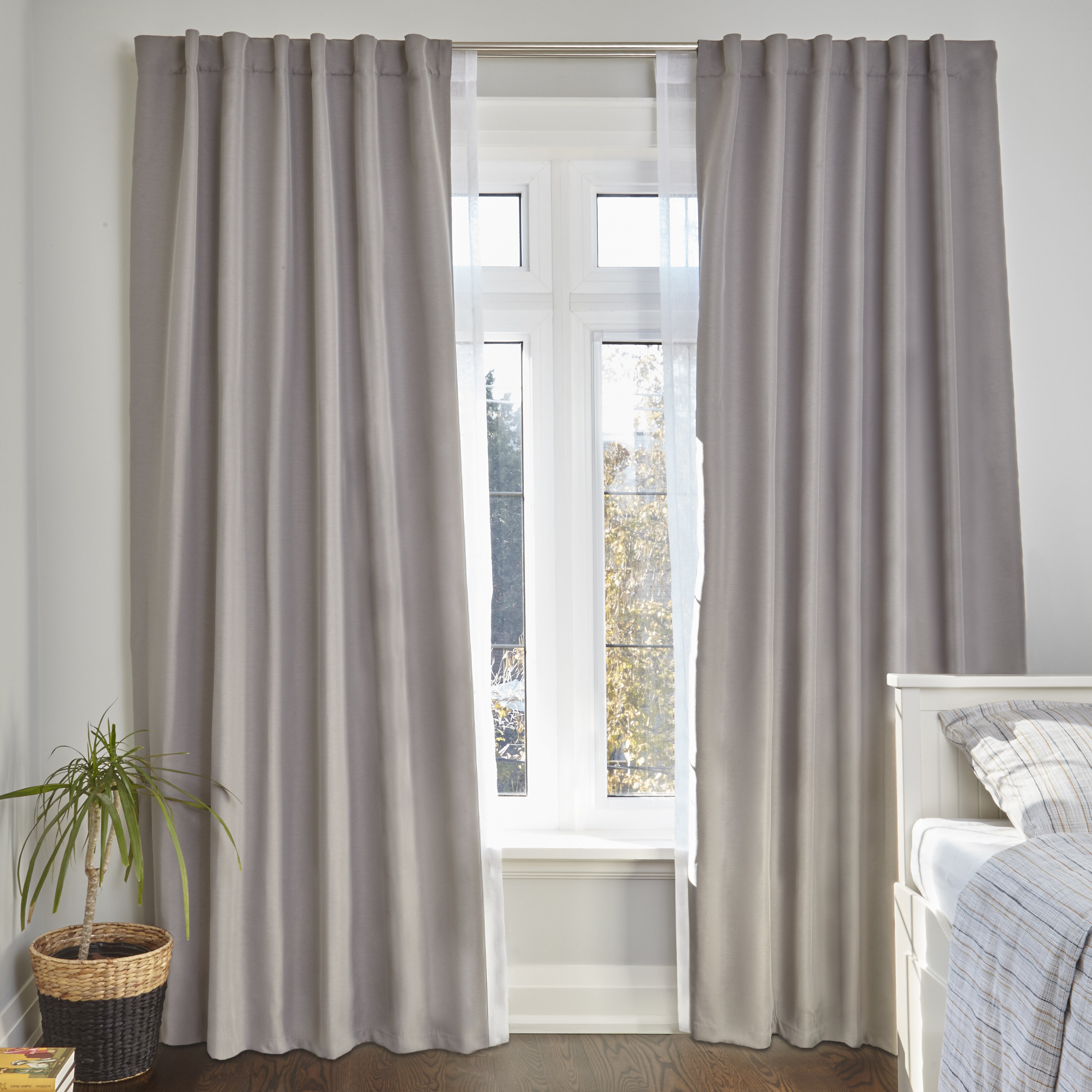nickel inch desyne magnolia com dp home to rod amazon satin curtain window curtains set kitchen