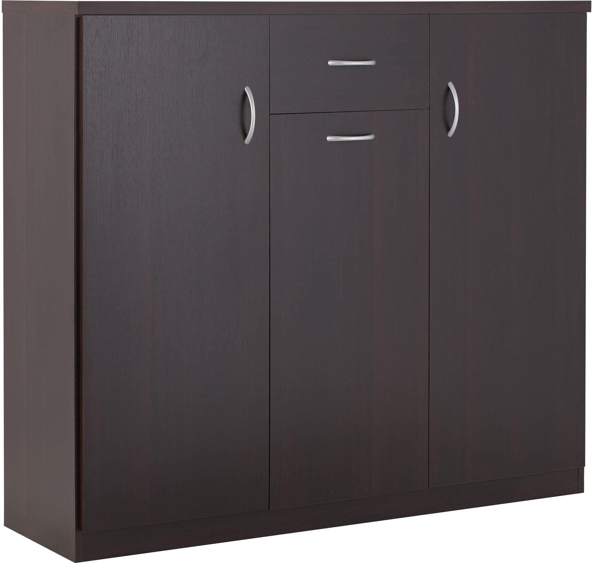 Wood 30 Pair Shoe Storage Cabinet Reviews Allmodern