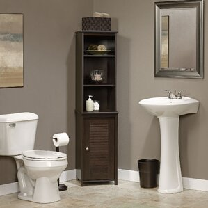 bathroom linen cabinets. Redding 14 72  W x 60 63 H Linen Tower Cabinets Towers You ll Love Wayfair