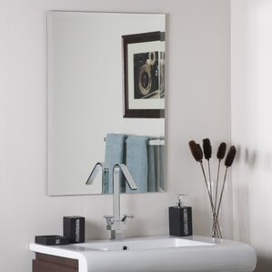 Frameless Stainless Steel Wall Mirror