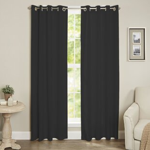 Diannah Insulated Solid Blackout Thermal Grommet Window Curtain Panel