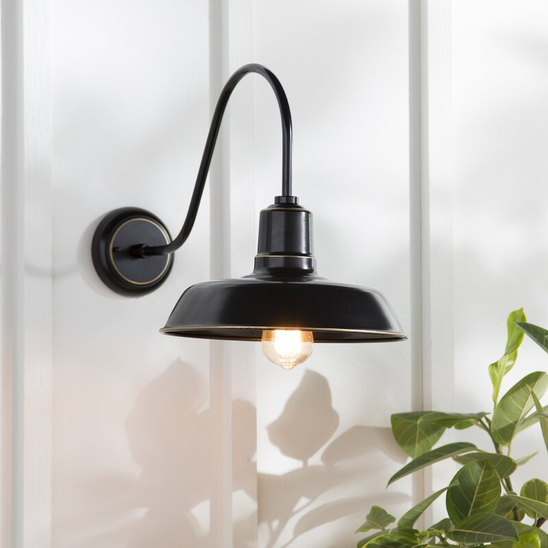 Ebern Designs Chenier 1-Light Outdoor Barn Light & Reviews