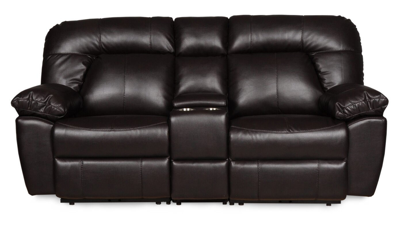 Genial Bolles Dual Console Reclining Sofa