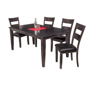 Haan Modern 5 Piece Dining Set with Butte..