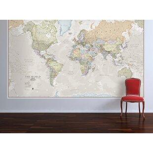 Metal world map wayfair classic world map graphic art print gumiabroncs Images