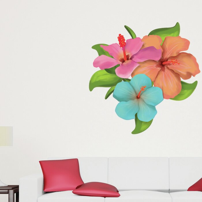 Style And Apply Hibiscus Flower Wall Decal Reviews Wayfairca