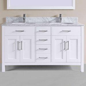 60u201d double bathroom vanity set - 60 Inch Vanity