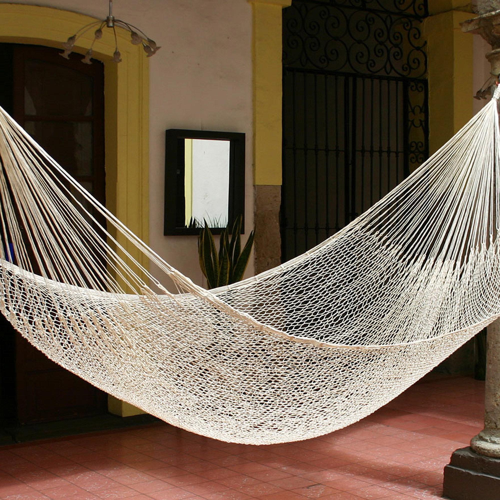 indooroutdoor cotton wayfair pdp outdoor tree ca hanging chair reviews hammock indoor beachcrest rope ally woven home
