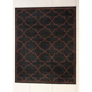 Buckler Black Area Rug