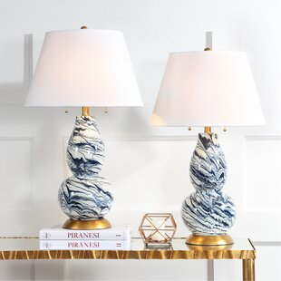 Blue table lamps youll love wayfair blue table lamps aloadofball Choice Image