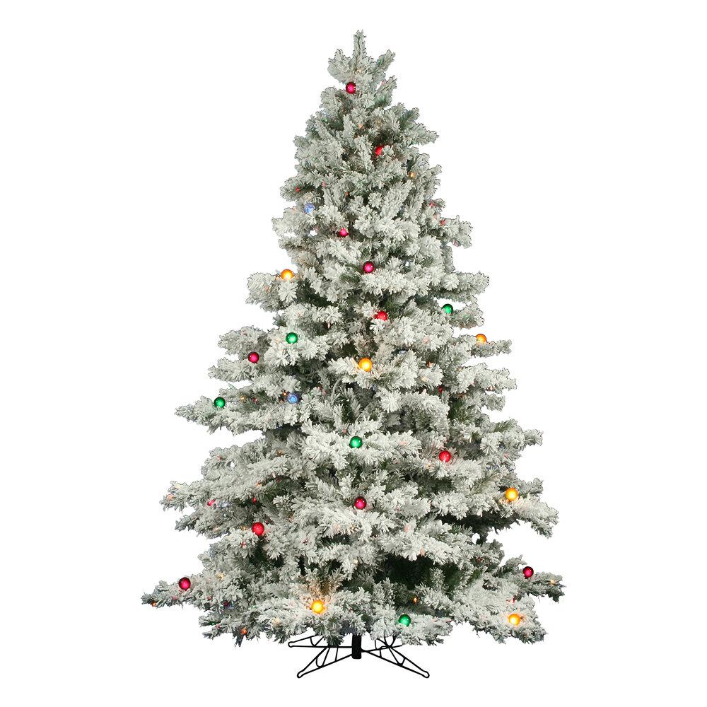 The Holiday Aisle Flocked Alaskan 9 White Artificial Christmas Tree