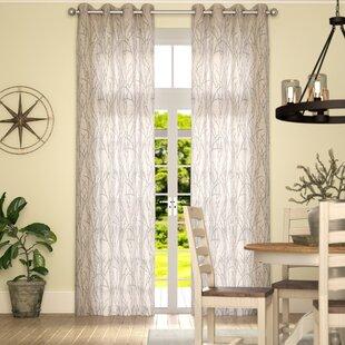 Baillons Nature Fl Room Darkening Grommet Curtain Panels Set Of 2