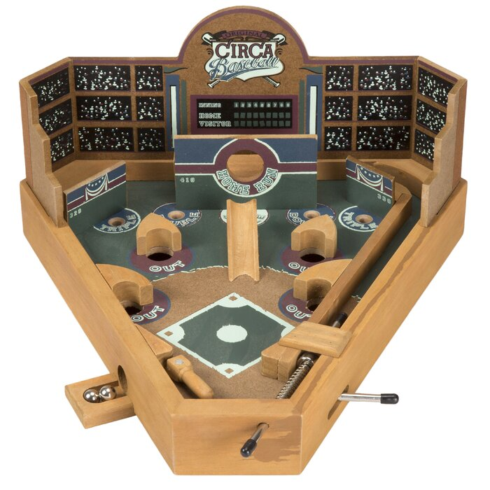 Enjoyable 3 Piece Tabletop Baseball Pinball Game Interior Design Ideas Gentotryabchikinfo