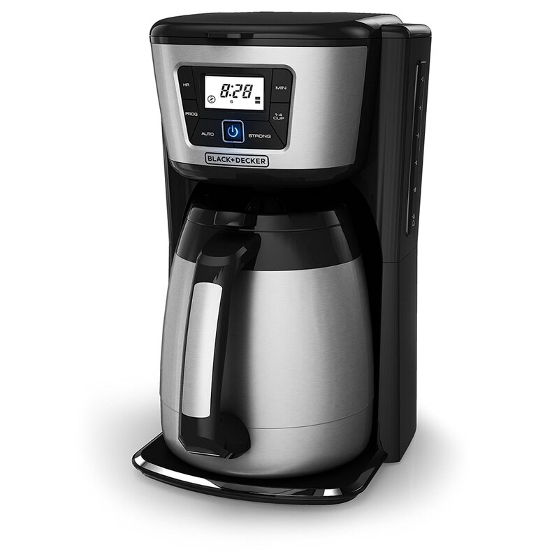 Black + Decker 12-Cup Thermal Programmable Coffee Maker & Reviews ...