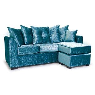 Navy Blue Velvet Corner Sofa Wayfaircouk