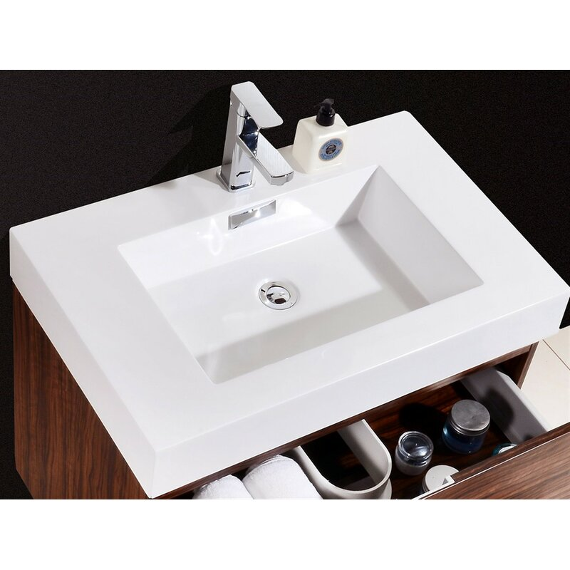 Tenafly 30 Single Wall Mounted Bathroom Vanity Set Reviews