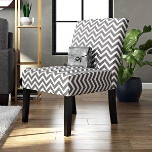 Maurice Wave Print Fabric Slipper Chair
