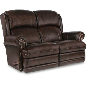 Kirkwood Reclina-Way? Full Leather Reclining Loveseat by La-Z-Boy