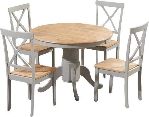 Kustenhaus Essgruppe Bartett Mit Ausziehbarem Tisch Und 4 Stuhlen