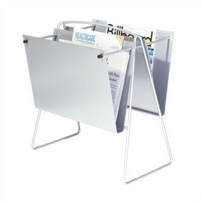 2 Pocket Newspaper Floor Rack