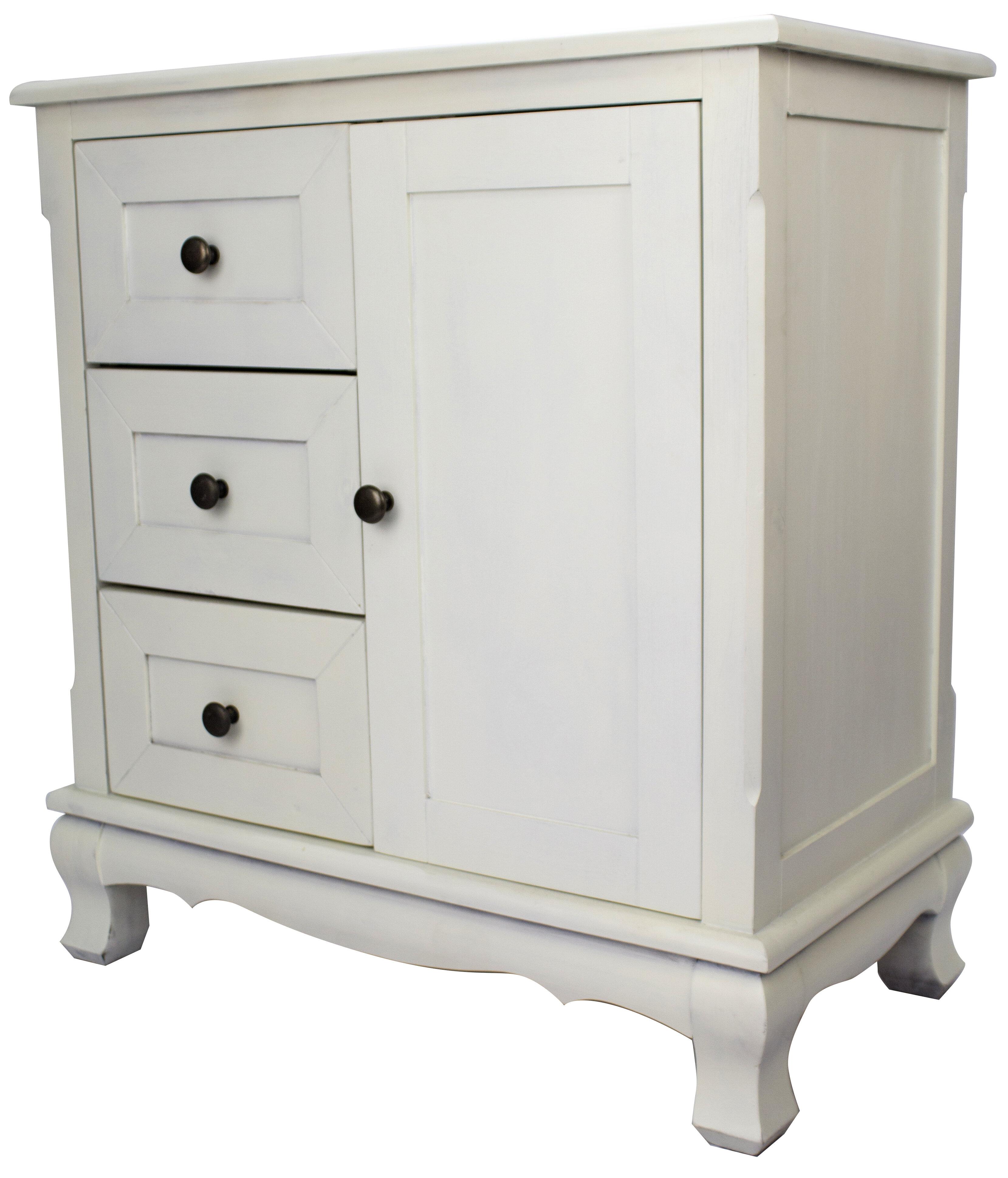 Heather Ann 3 Drawer And 1 Door Accent Cabinet U0026 Reviews | Wayfair