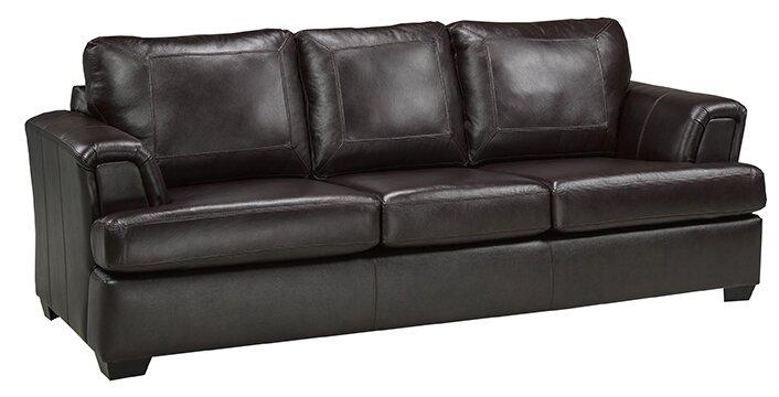 Marvelous Royal Cranberry Italian Leather Sofa