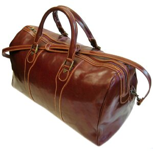 "Milano 20"" Leather Travel Duffel"