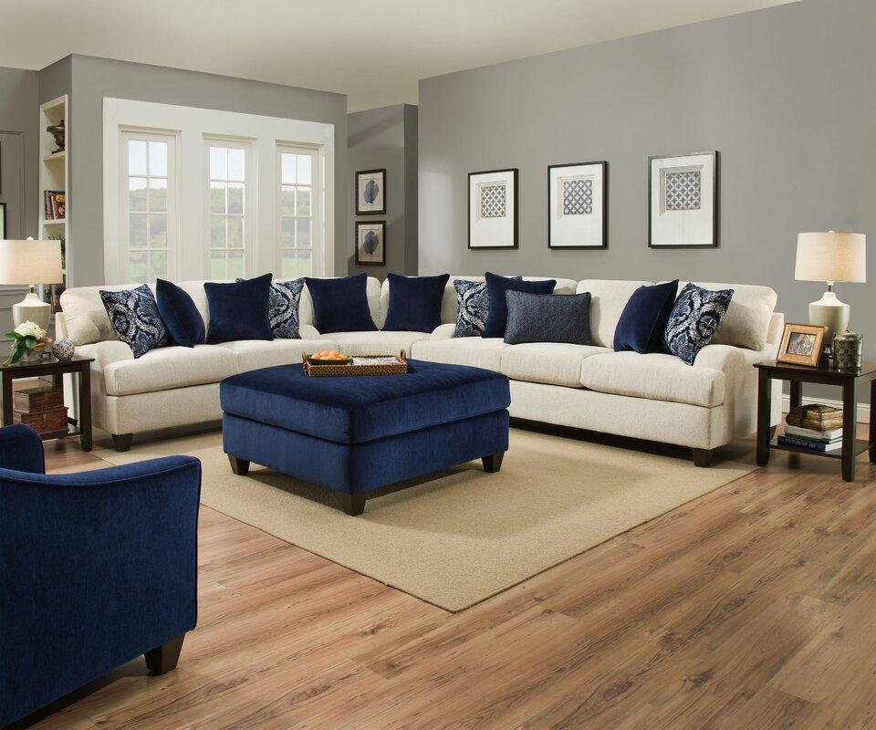 Sectional Couch Hattiesburg Ms: Three Posts Simmons Upholstery Hattiesburg Stone Sofa