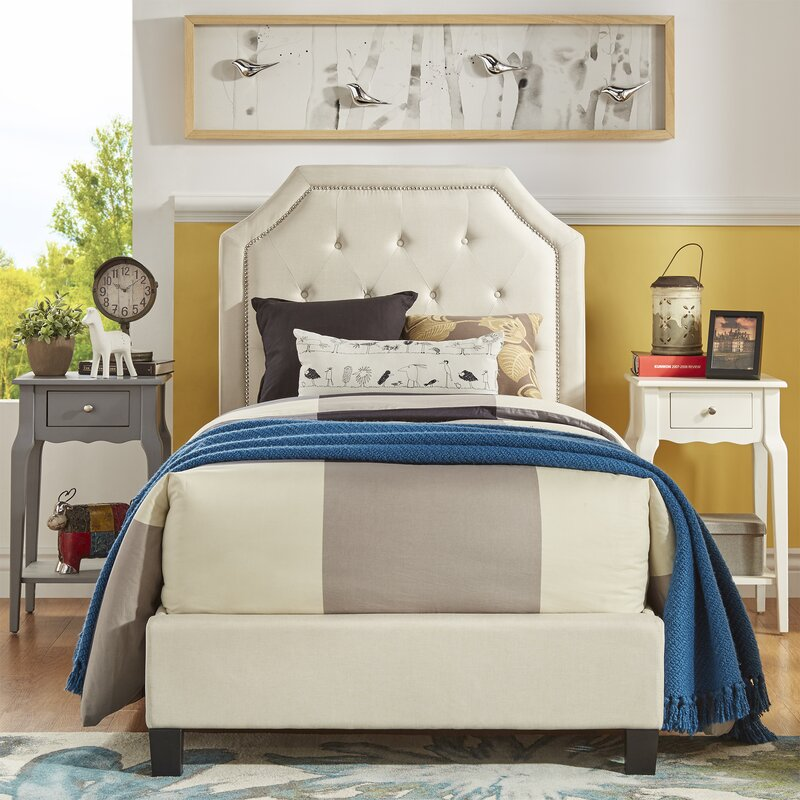 Three Posts Abbey Twin Upholstered Panel Bed Reviews Wayfair