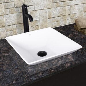 square bathroom sinks. Hibiscus Square Vessel Bathroom Sink with Faucet Sinks You ll Love  Wayfair