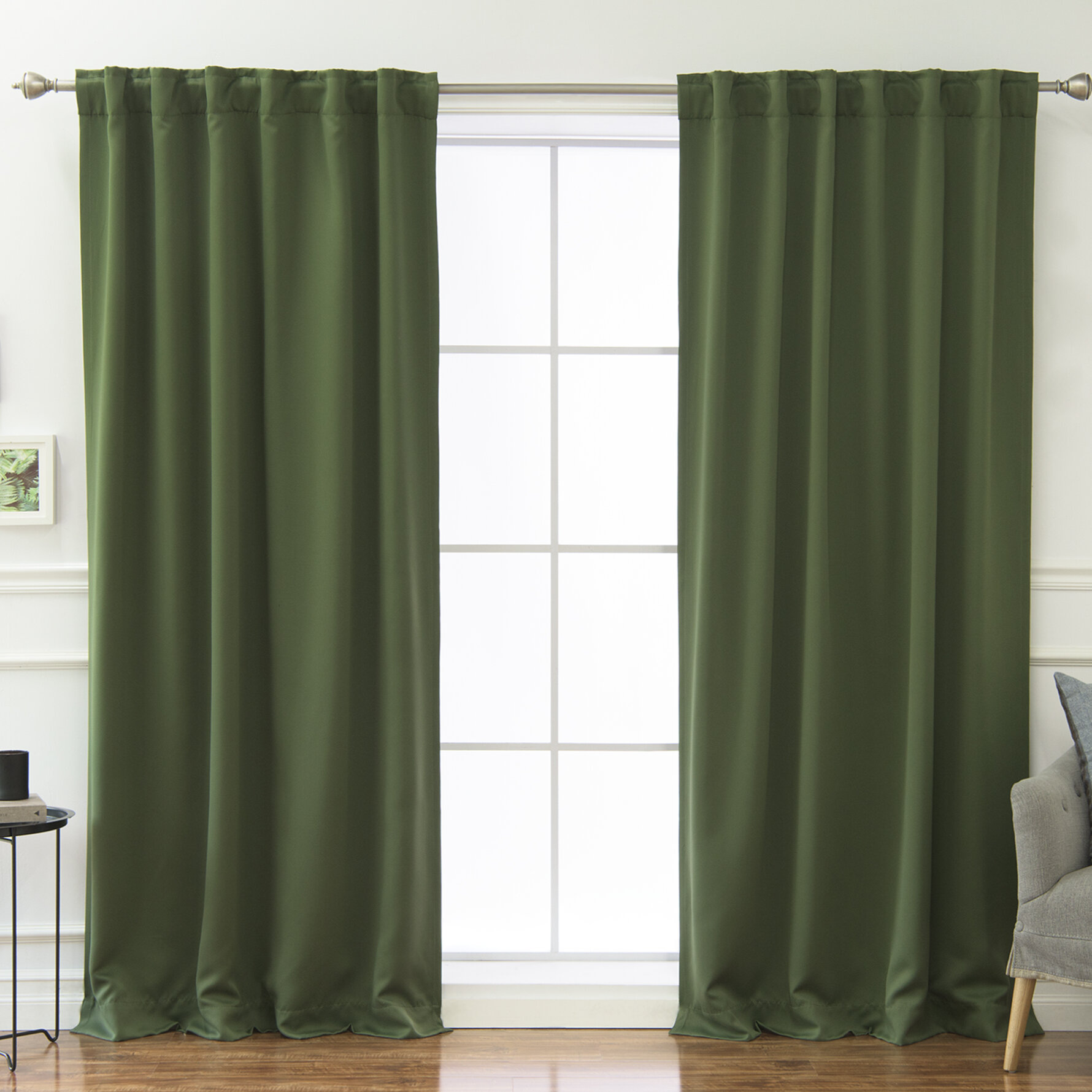 Beachcrest Home Sweeer Room Darkening Solid Thermal Curtain ... on