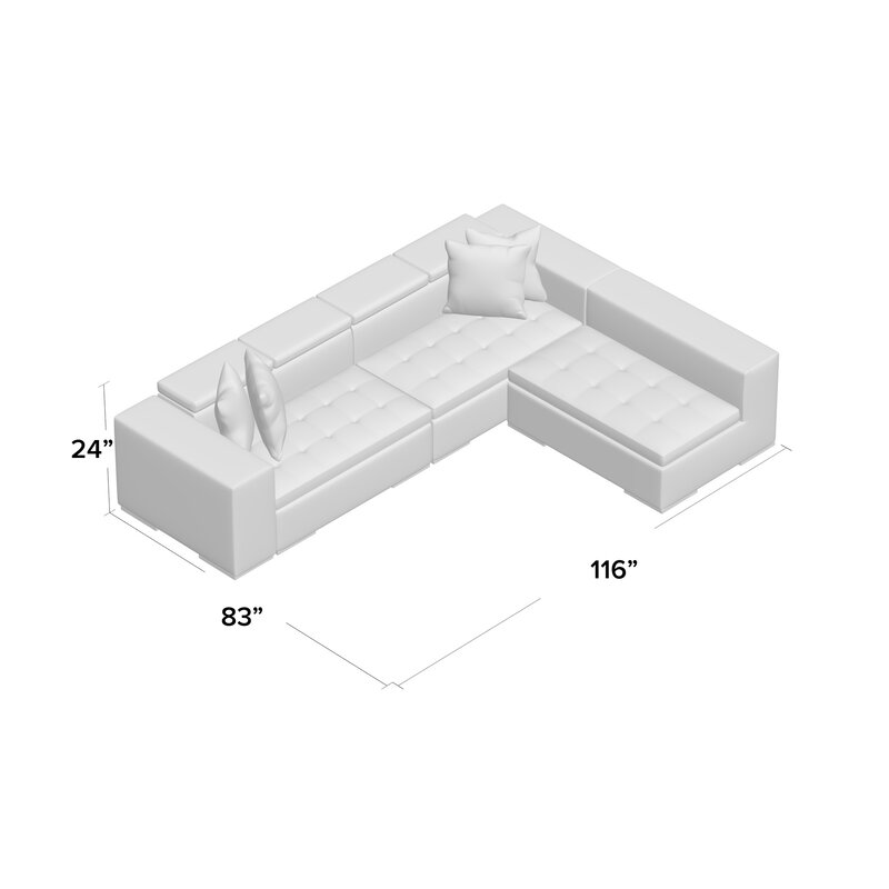 Oberlin Living Right Arm Facing Sectional