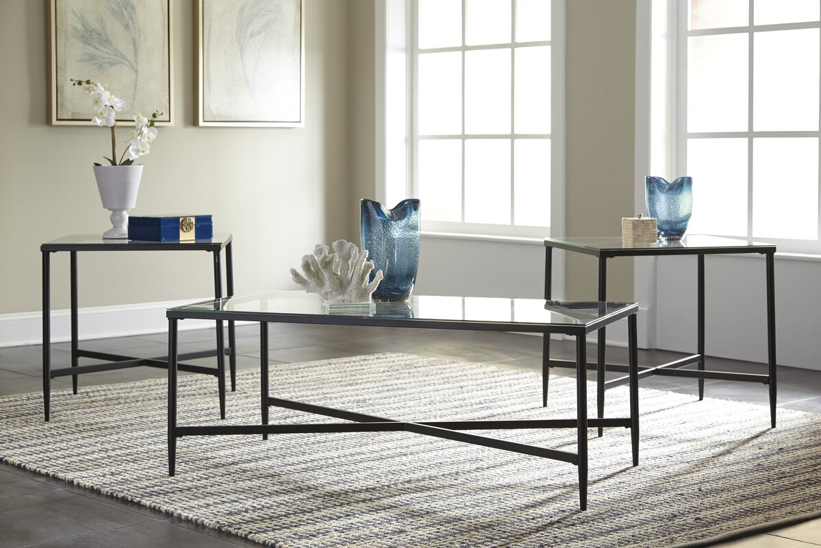 High Quality Melanie 3 Piece Coffee Table Set Pictures Gallery