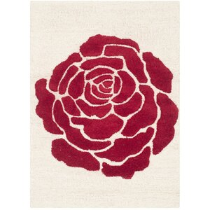 Martins Ivory/Red Area Rug