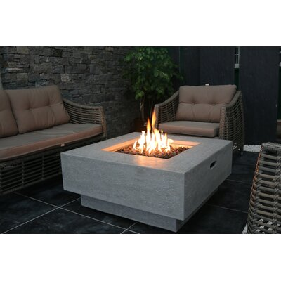 Manhattan Concrete Natural Gas Fire Pit Table