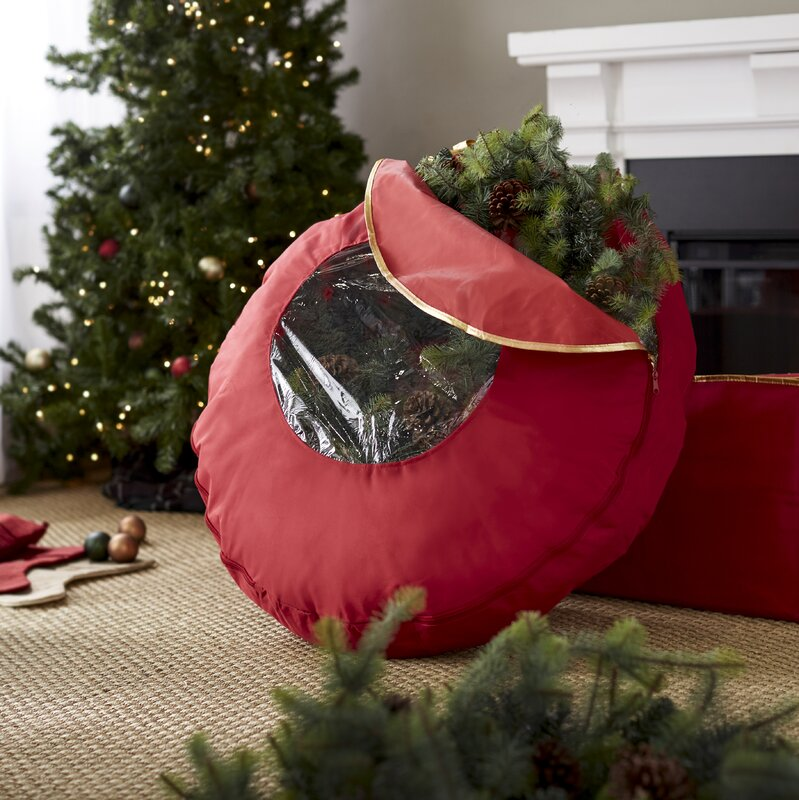 wayfair basics christmas 36 wreath bag
